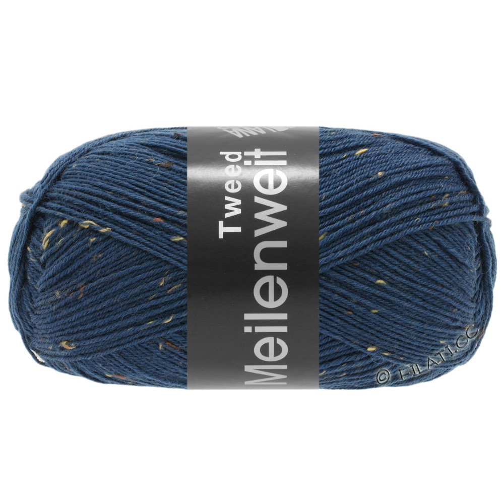Lana Grossa MEILENWEIT 100g Tweed | 128-синий