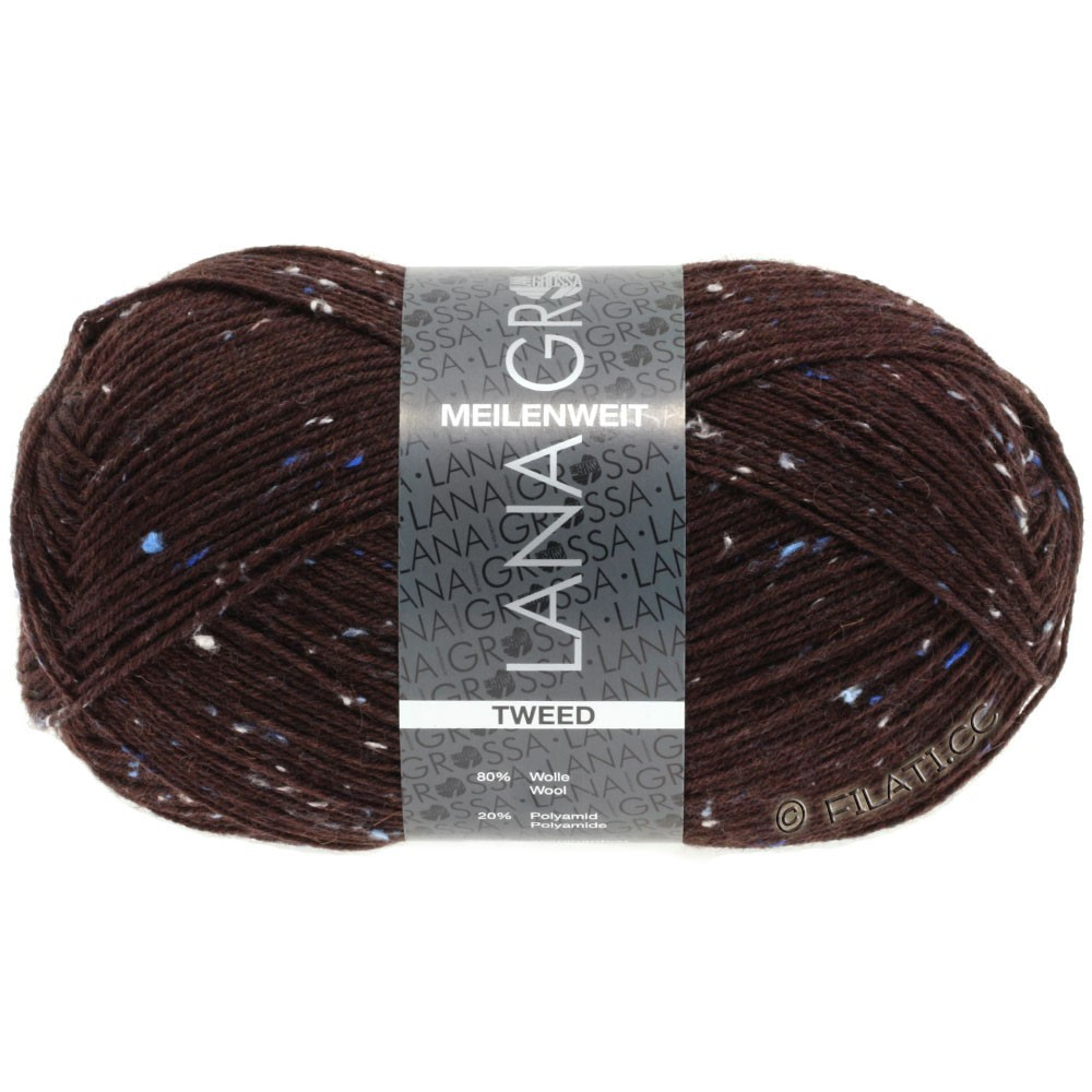 Lana Grossa MEILENWEIT 100g Tweed | 143-тёмно-красный