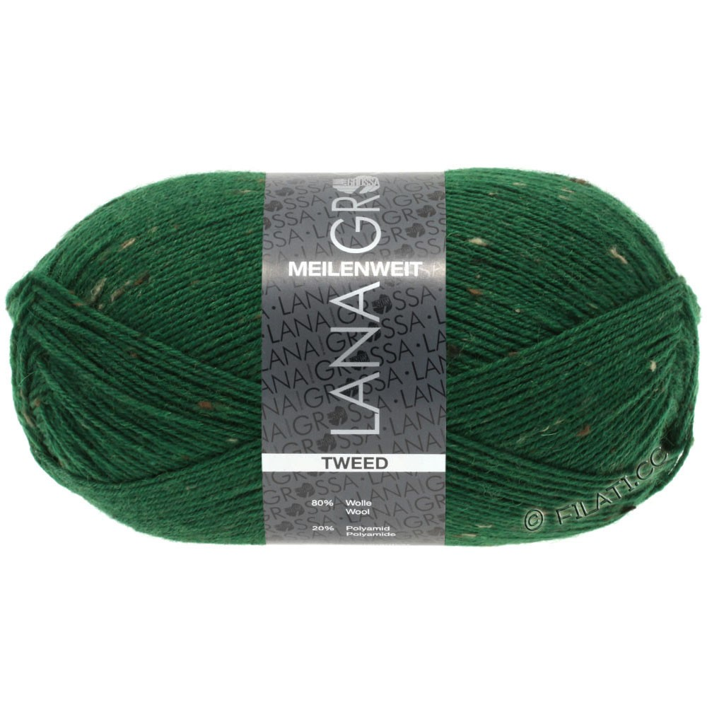 Lana Grossa MEILENWEIT 100g Tweed | 150-зелёный