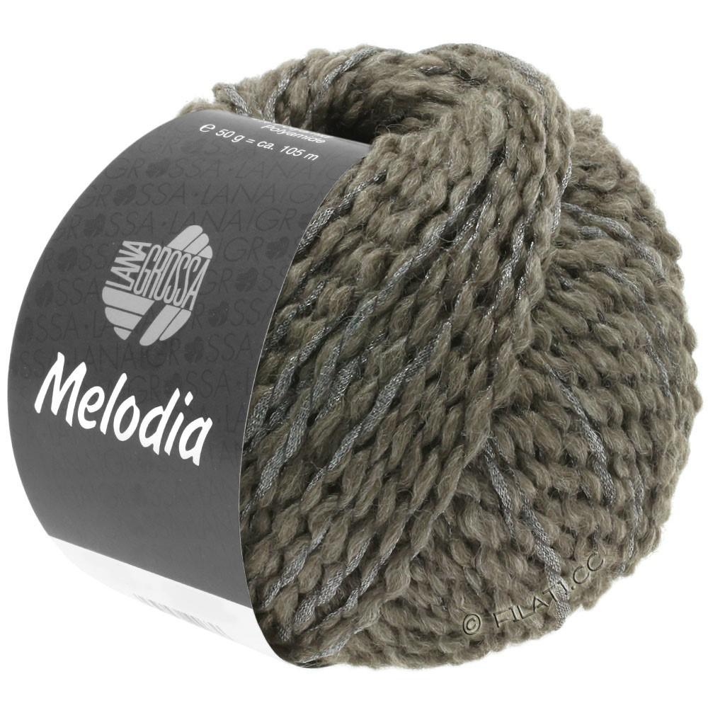 Lana Grossa MELODIA | 08-серо-коричневый/серебряный