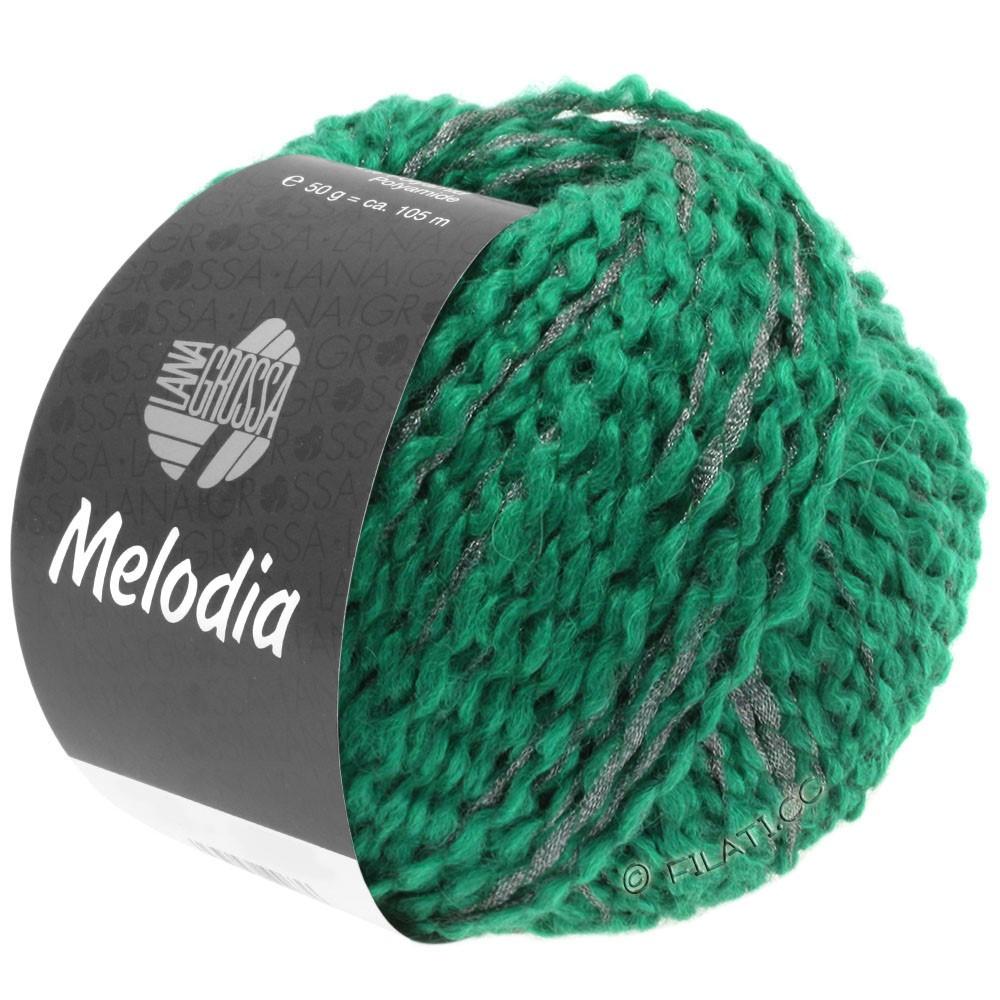 Lana Grossa MELODIA | 12-зеленый опал /серебряный