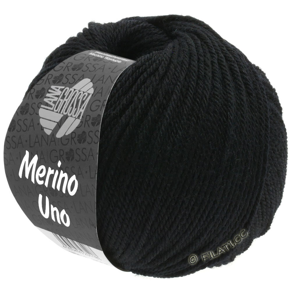 Lana Grossa MERINO UNO | 13-чёрный