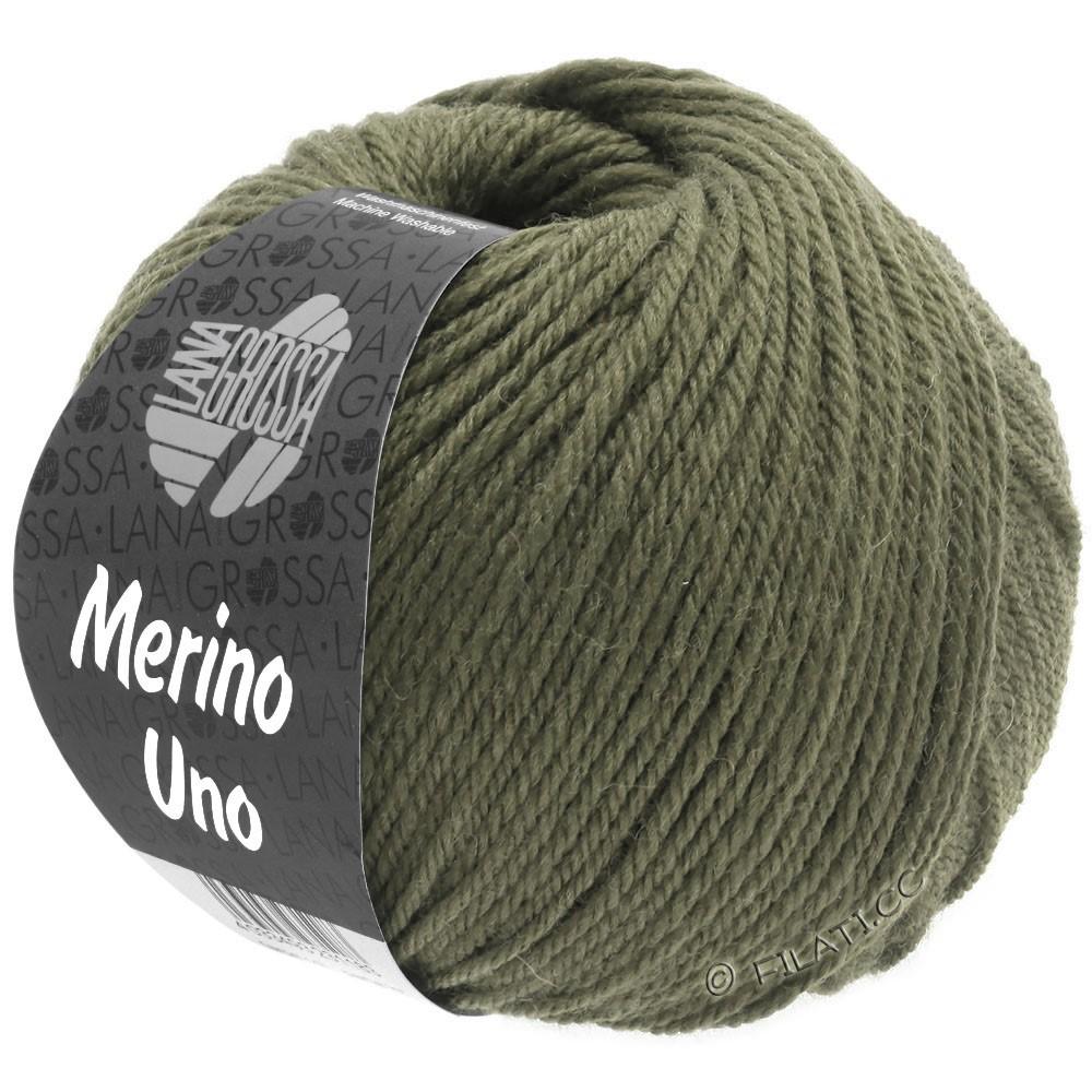 Lana Grossa MERINO UNO | 19-зеленый серый