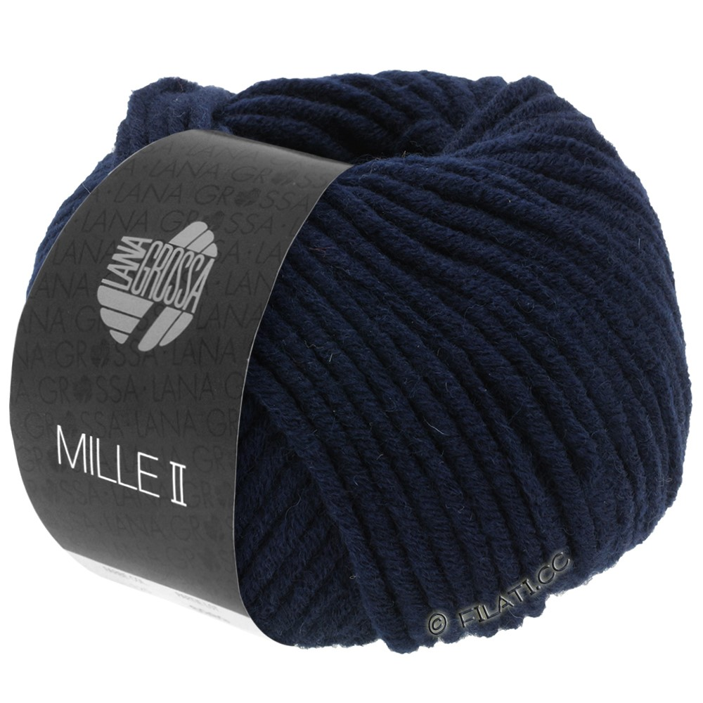Lana Grossa MILLE II  Uni | 012-тёмно-синий