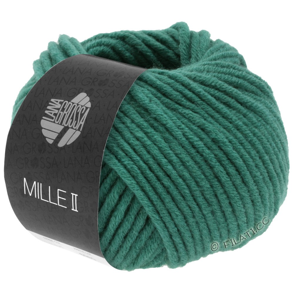 Lana Grossa MILLE II  Uni | 087-нефритово-зеленый