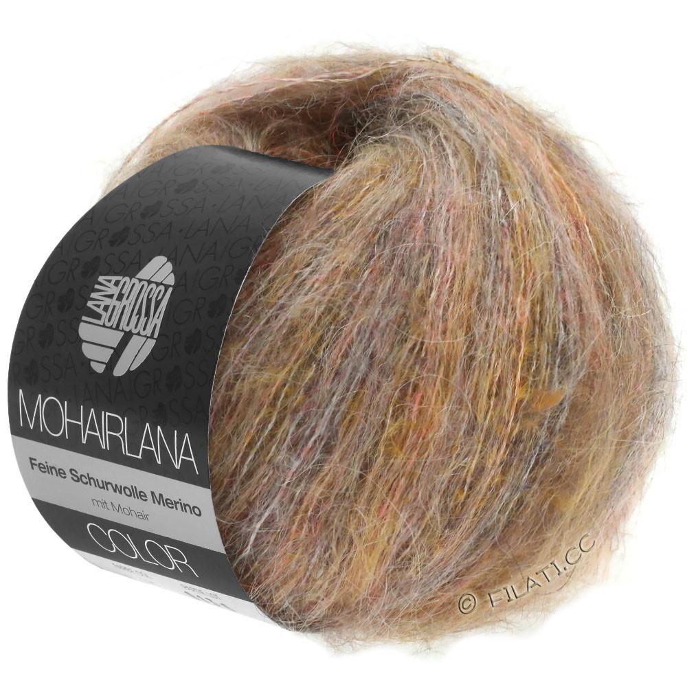 Lana Grossa MOHAIRLANA COLOR | 101-серо-коричневый/светло-оранжевый