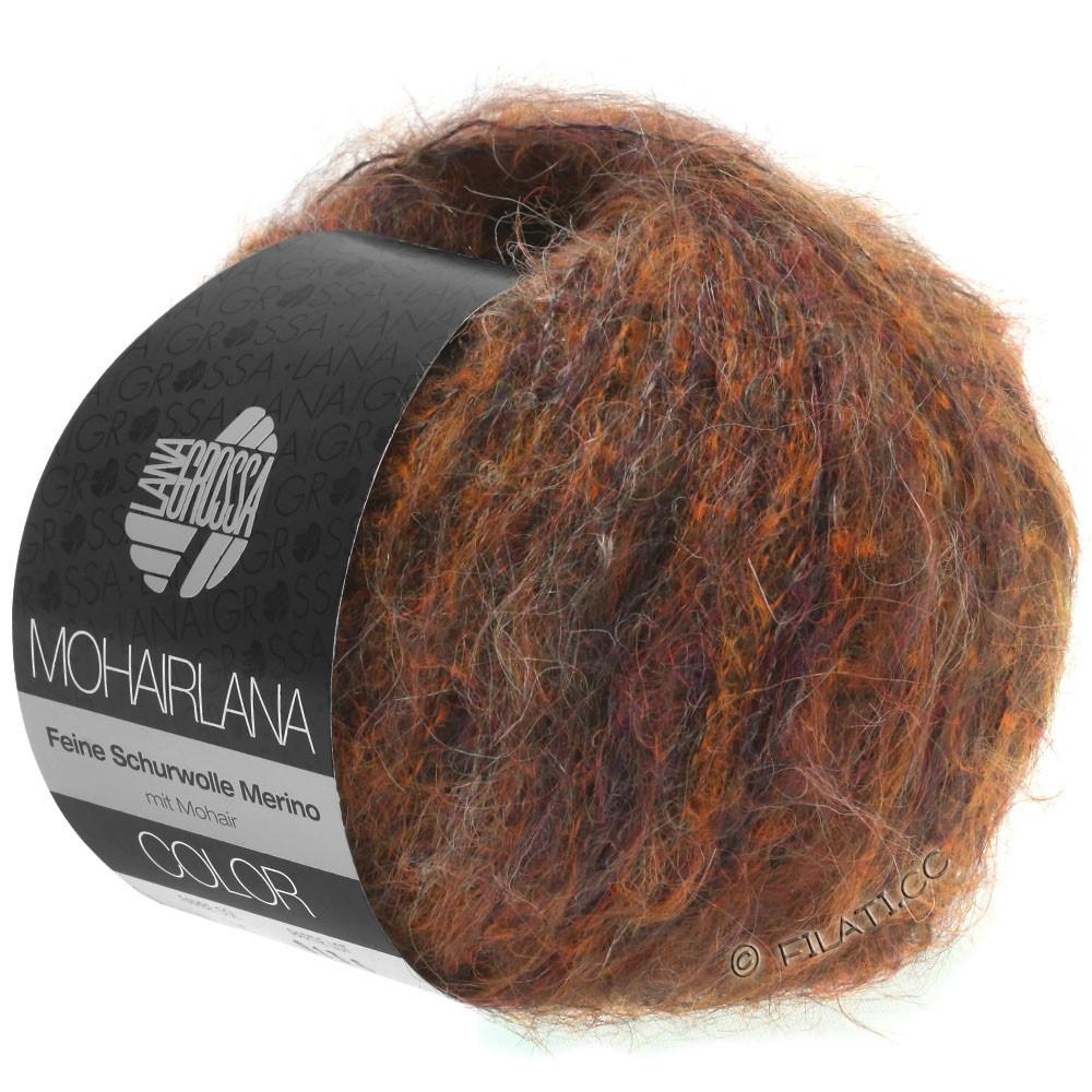 Lana Grossa MOHAIRLANA COLOR | 102-медь/тёмно-коричневый