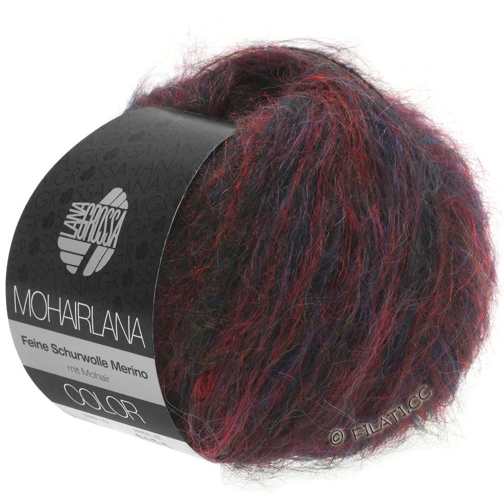 Lana Grossa MOHAIRLANA COLOR | 103-тёмно-красный/тёмно-синий