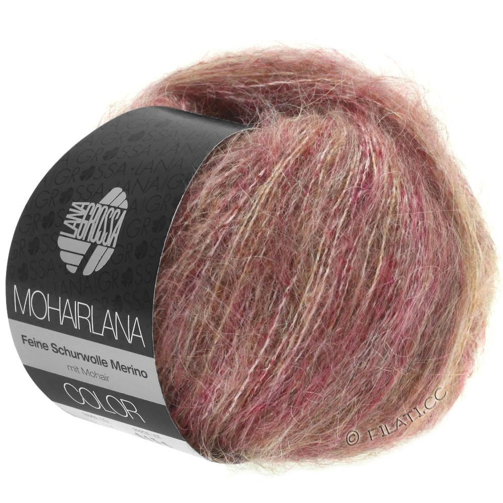 Lana Grossa MOHAIRLANA COLOR   105-ягодный/серо-коричневый