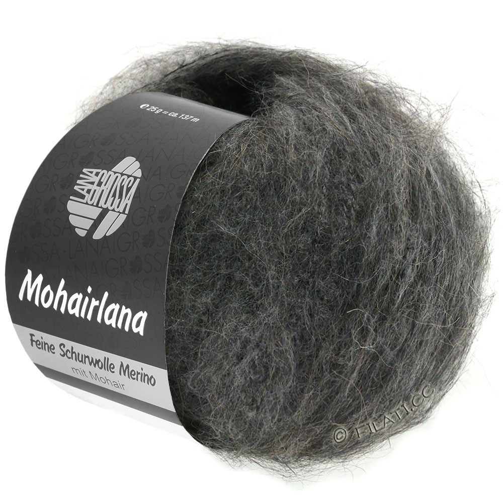 Lana Grossa MOHAIRLANA | 08-тёмно-серый