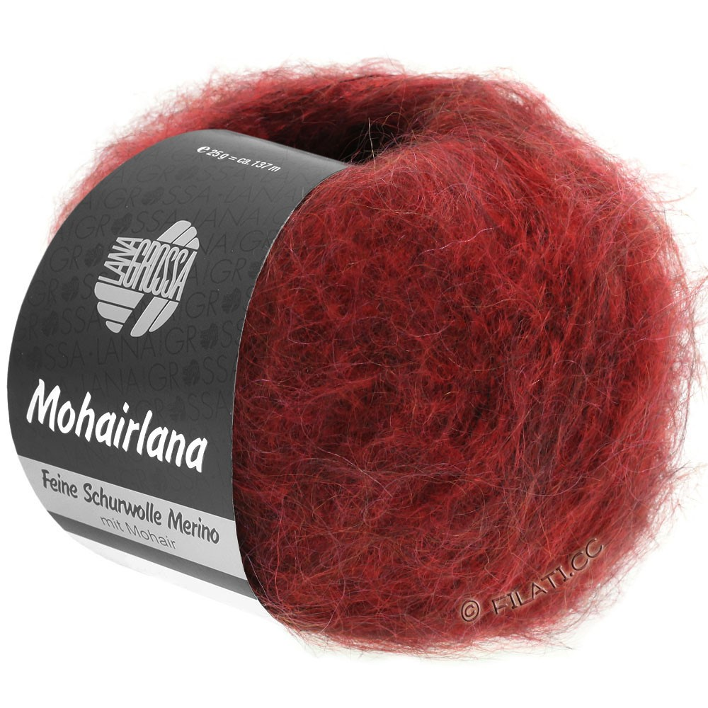 Lana Grossa MOHAIRLANA | 12-тёмно-красный