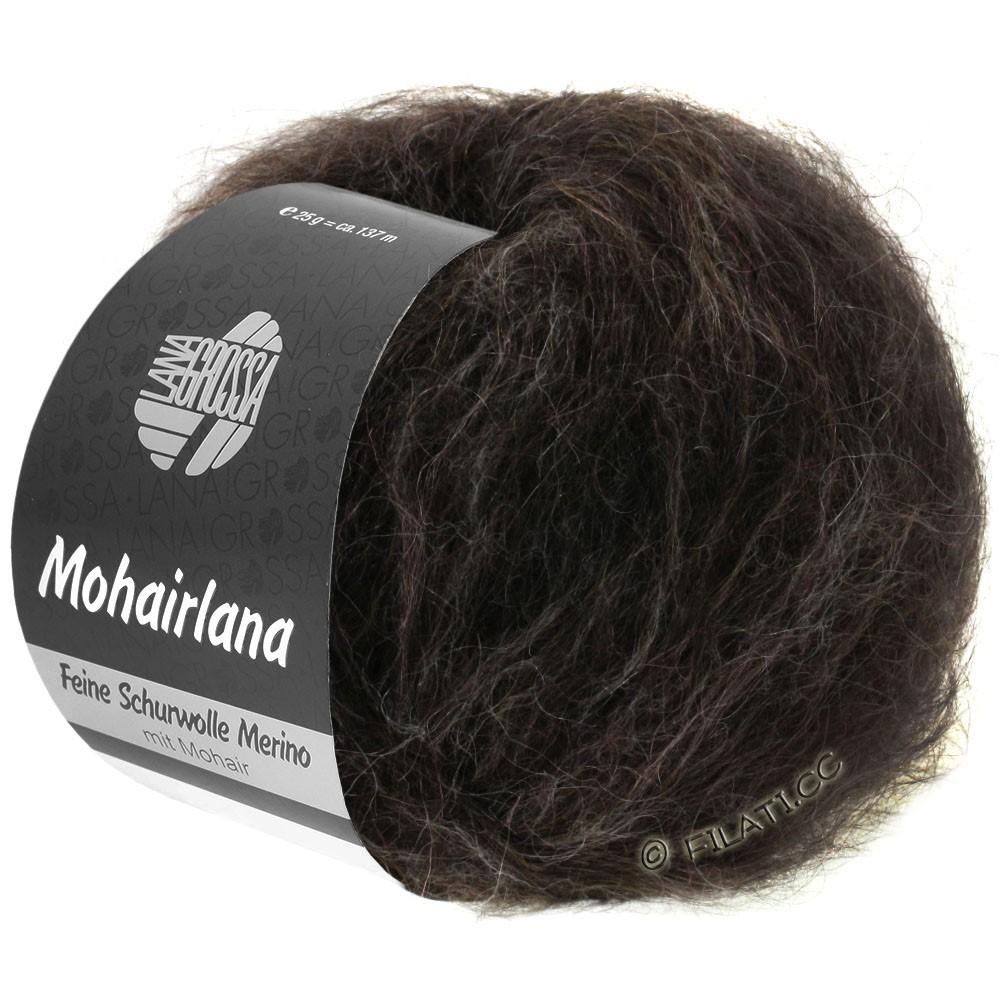 Lana Grossa MOHAIRLANA | 13-чёрно-коричневый