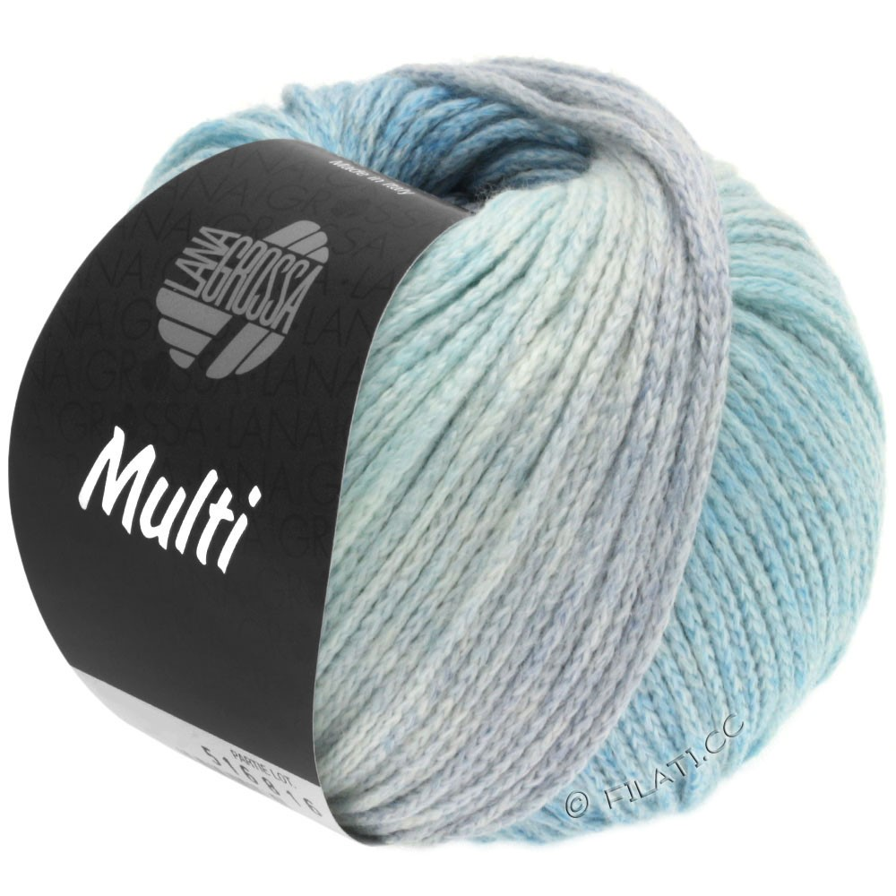 Lana Grossa MULTI | 01-светло-голубой/джинс/мята