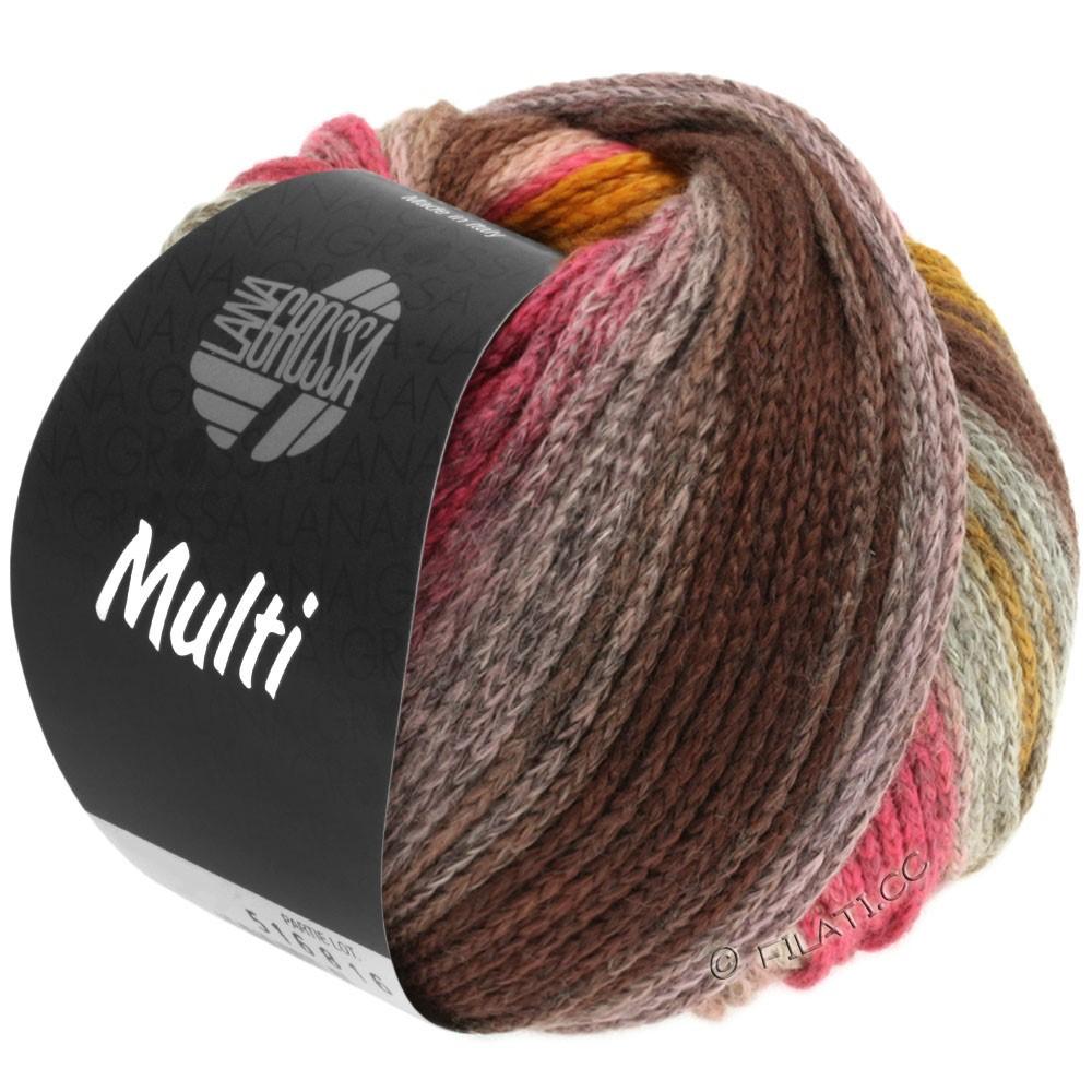 Lana Grossa MULTI | 07-серо-коричневый/оранжевый/пинк/розовый/жёлтый