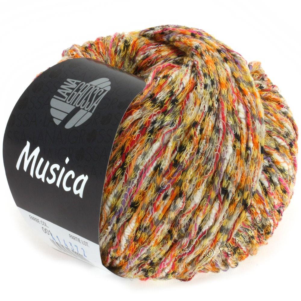 Lana Grossa MUSICA | 01-оранжевый/жёлтый/пинк/серый/белый