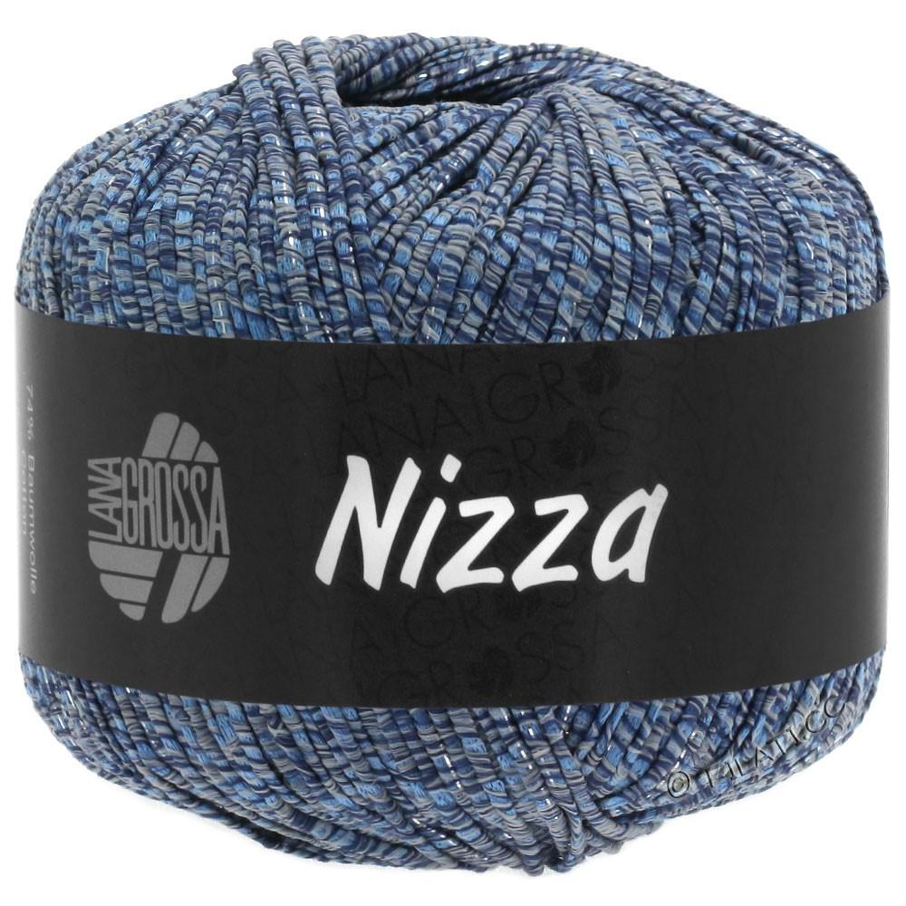 Lana Grossa NIZZA   06-серо-синий/синий/серебряный