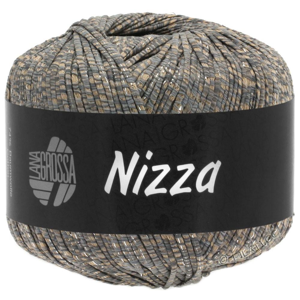 Lana Grossa NIZZA | 09-легко коричневый/серый/серебряный