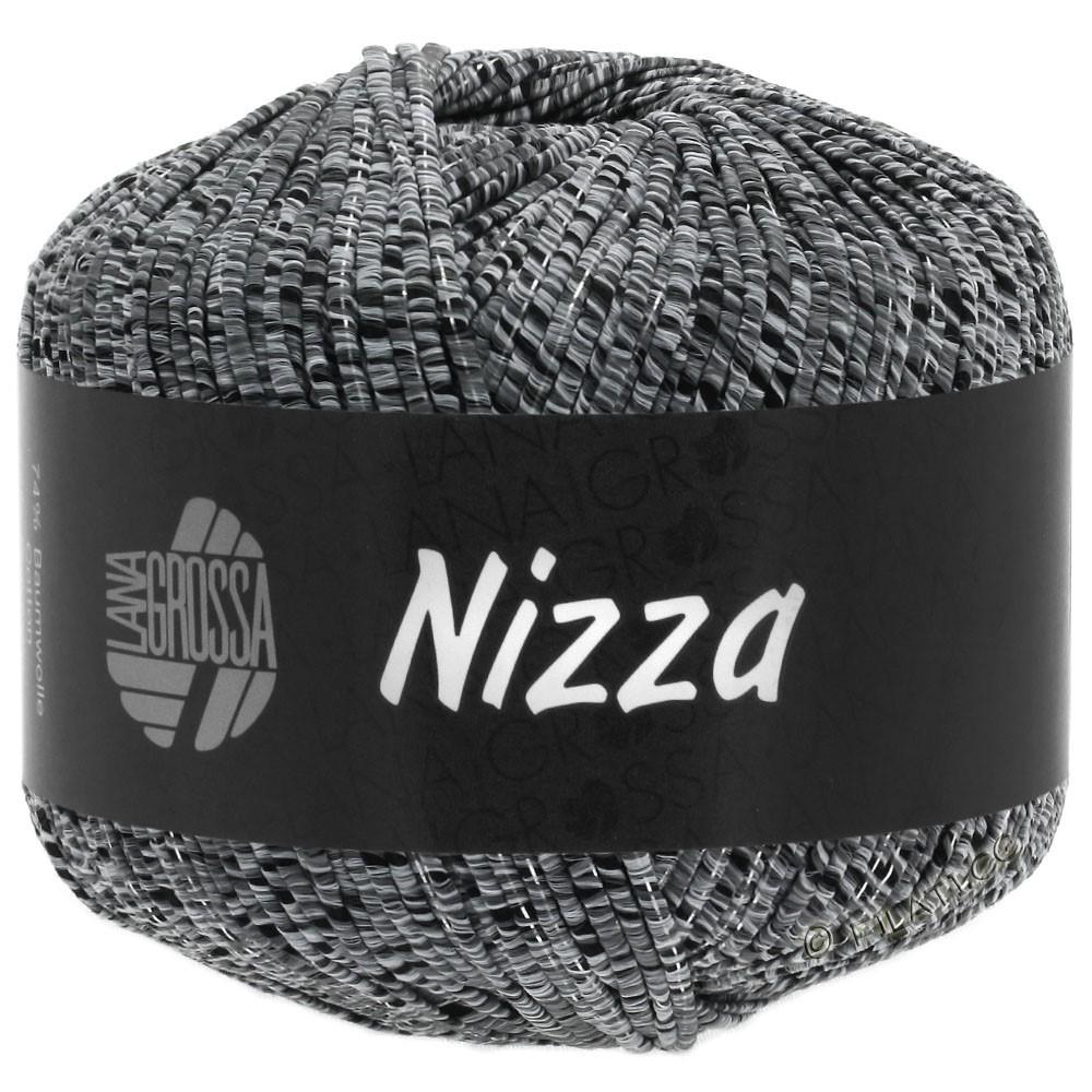 Lana Grossa NIZZA   12-светло-серый/чёрный/серебряный