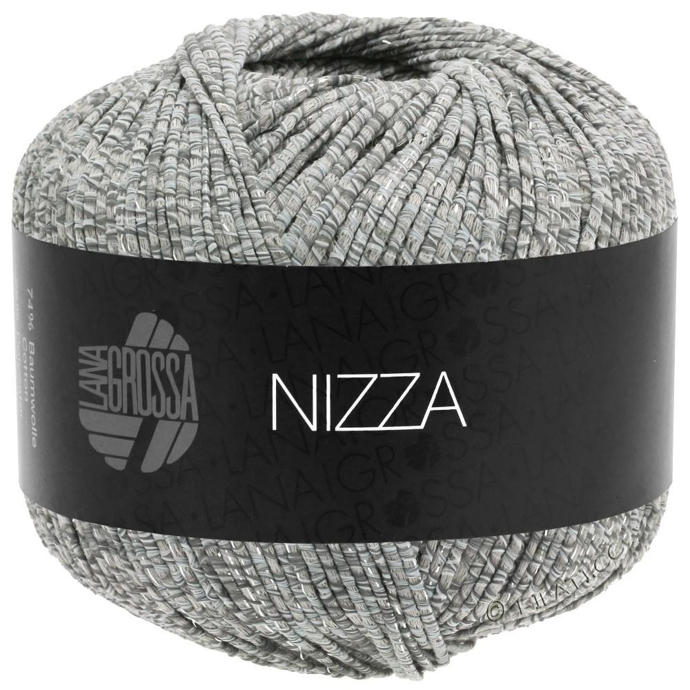Lana Grossa NIZZA   13-белый/серый/бежевый/серебряный