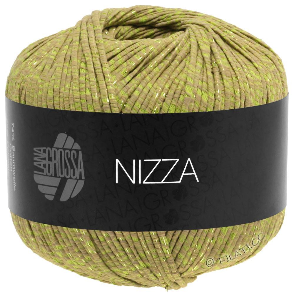 Lana Grossa NIZZA   14-легко коричневый/жёлто-зеленый/золотой