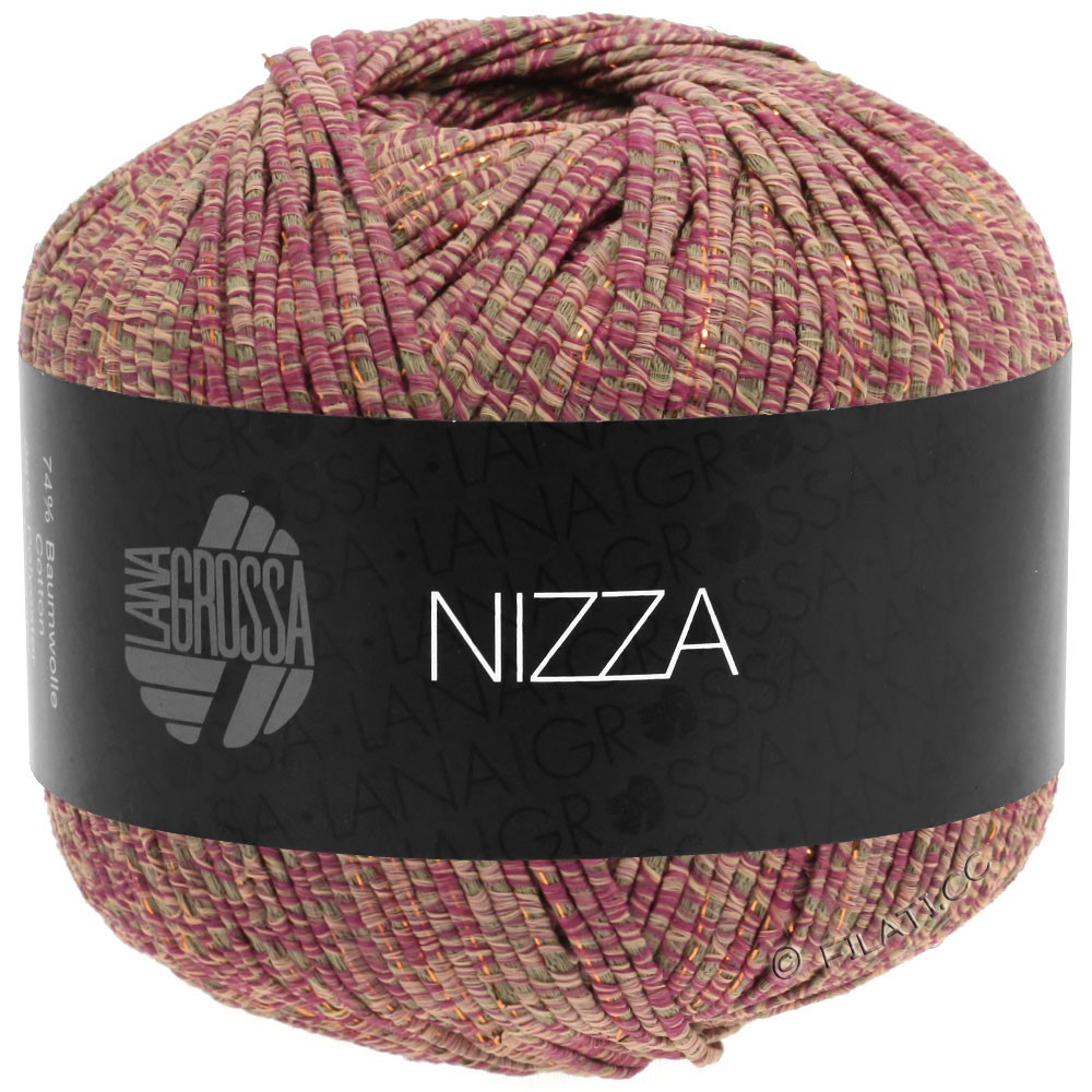 Lana Grossa NIZZA   15-ориент красный/серо-коричневый/розовый/золотой