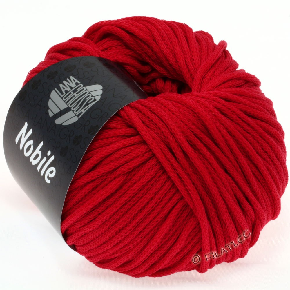 Lana Grossa NOBILE | 04-рубиново-красный