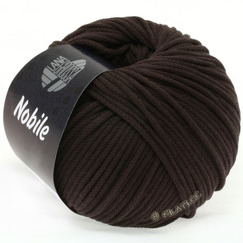 Lana Grossa NOBILE | 16-чёрно-коричневый