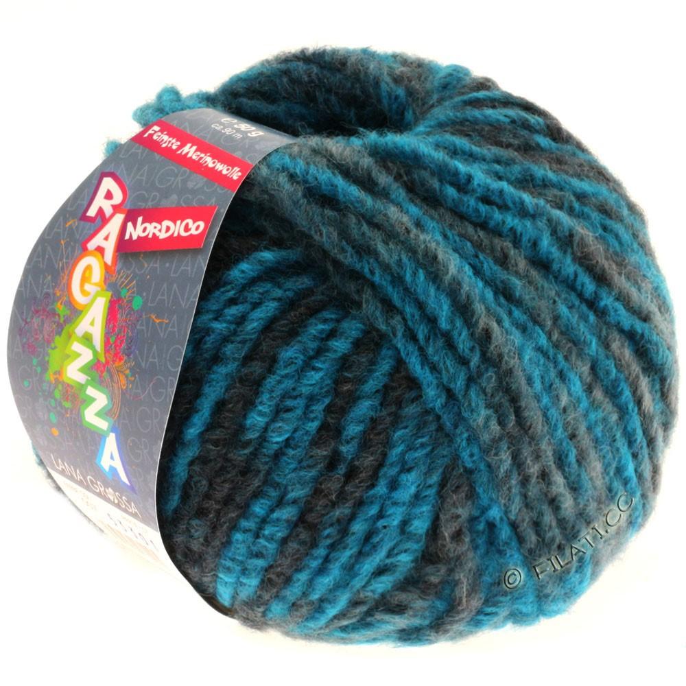 Lana Grossa NORDICO (Ragazza) | 07-петроль синий/тёмно сине-зеленый