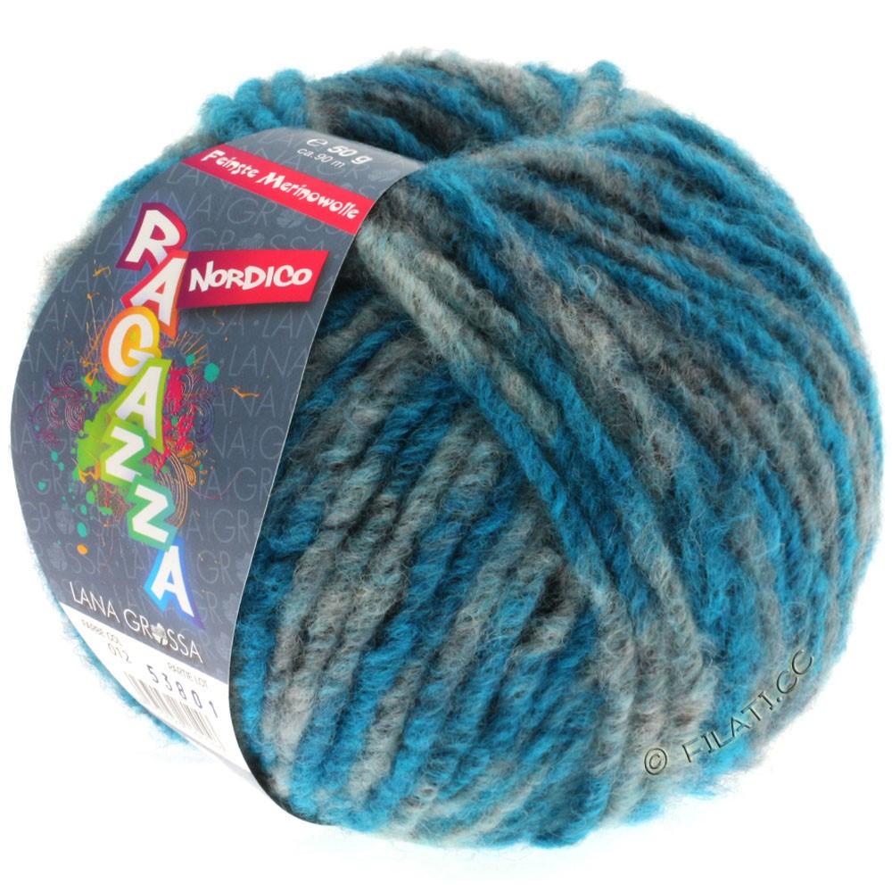 Lana Grossa NORDICO (Ragazza) | 12-антрацитовый/петроль синий