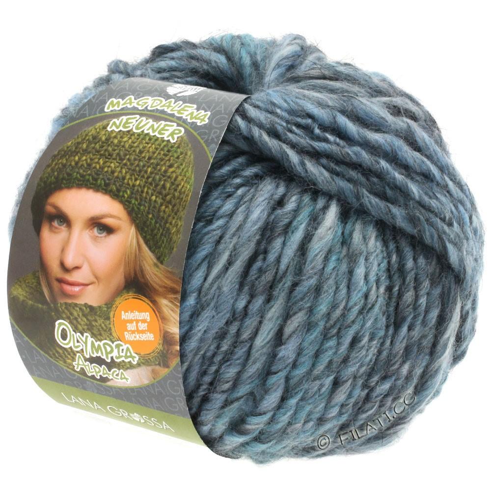 Lana Grossa OLYMPIA Alpaca | 901-джинс/зеленовато-голубой смешанный