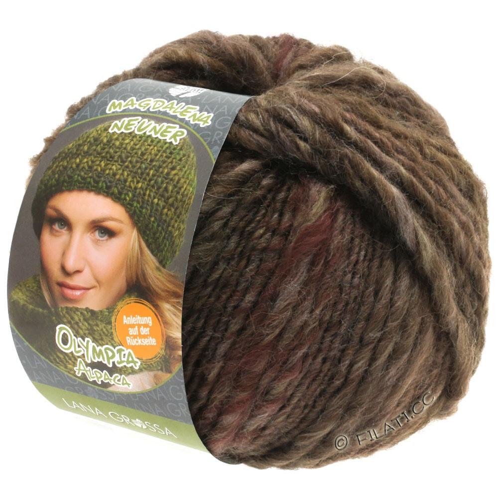 Lana Grossa OLYMPIA Alpaca | 907-серо-коричневый/тёмно-коричневый смешанный