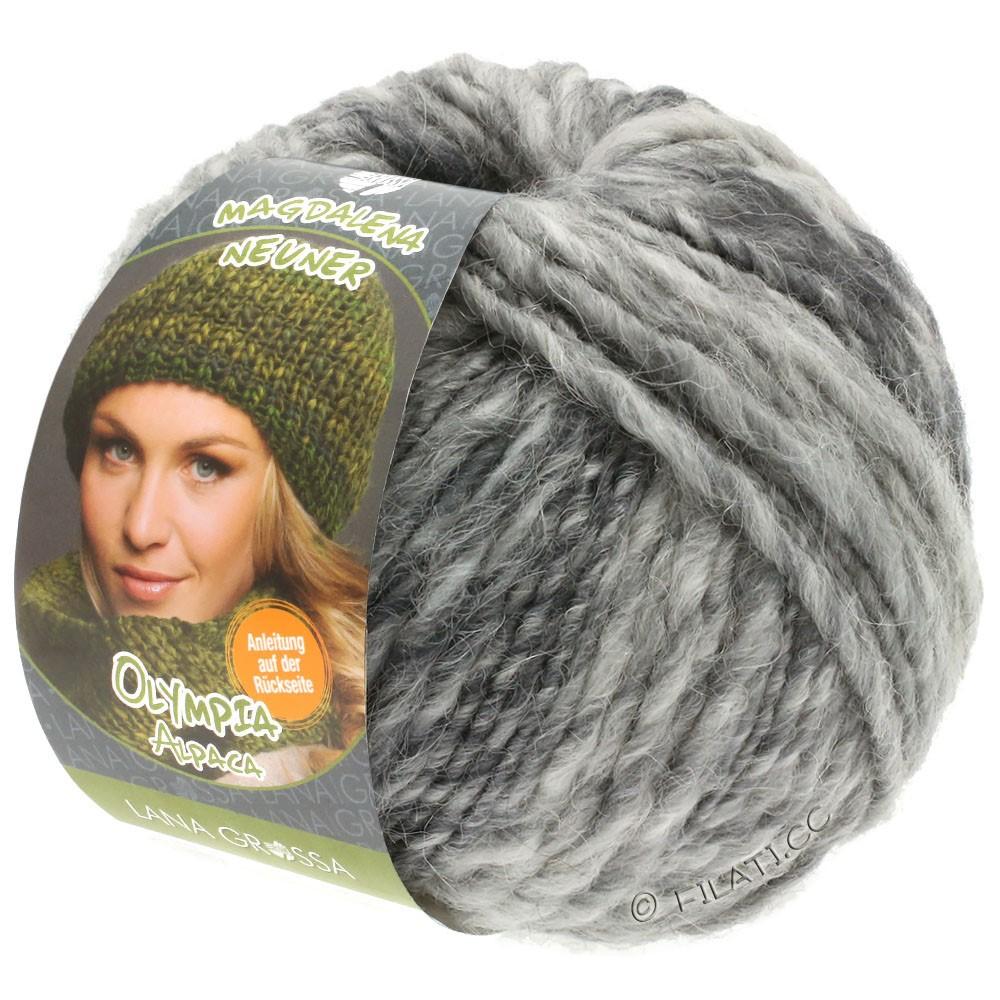 Lana Grossa OLYMPIA Alpaca | 910-серебристо-серый/светло-серый/средне-серый смешанный