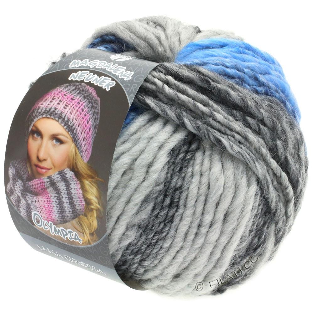 Lana Grossa OLYMPIA Grey | 802-тёмно-серый/светло-серый/джинс/василек