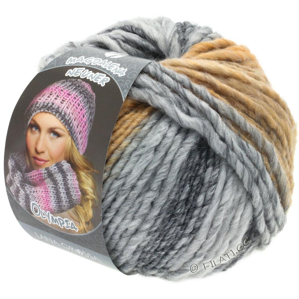 Lana Grossa OLYMPIA Grey | 806-тёмно-серый/светло-серый/мягко-серый/бежевый/легко коричневый