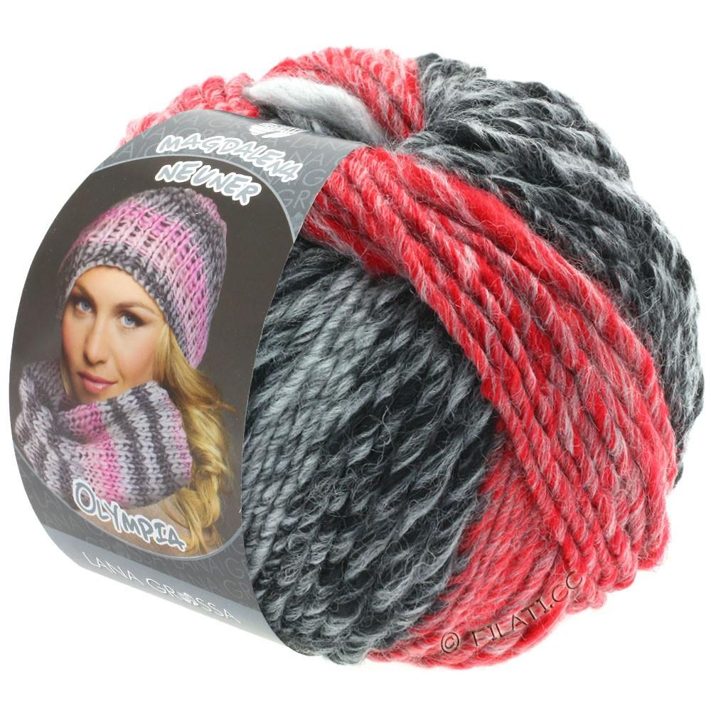 Lana Grossa OLYMPIA Grey | 807-антрацитовый/тёмно-серый/светло-серый/красный/тёмно-красный