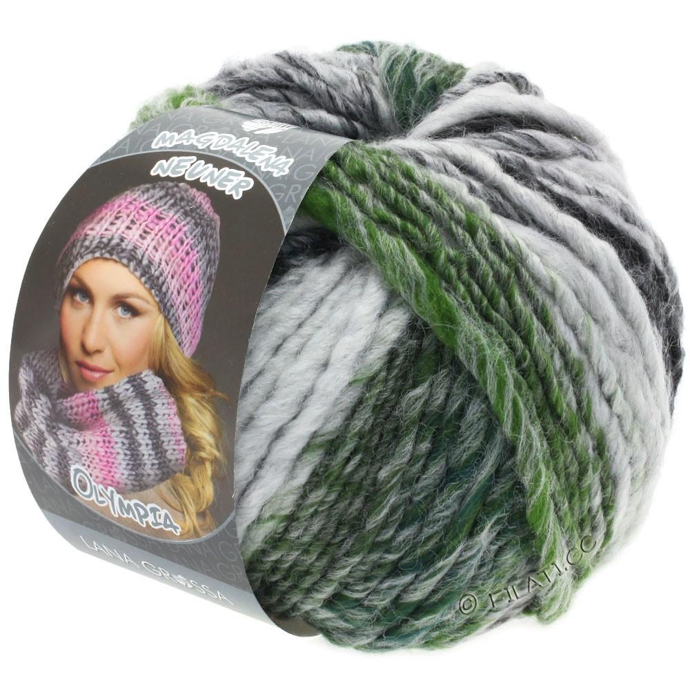 Lana Grossa OLYMPIA Grey | 811-антрацитовый/тёмно-серый/светло-серый/мох зеленый  меланжевый
