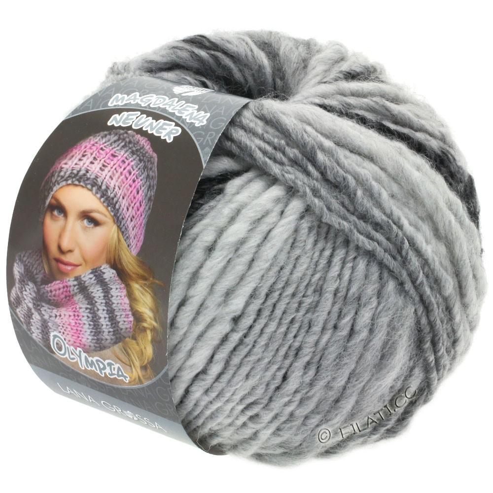 Lana Grossa OLYMPIA Grey | 812-антрацитовый/тёмно-серый/светло-серый/серебристо-серый
