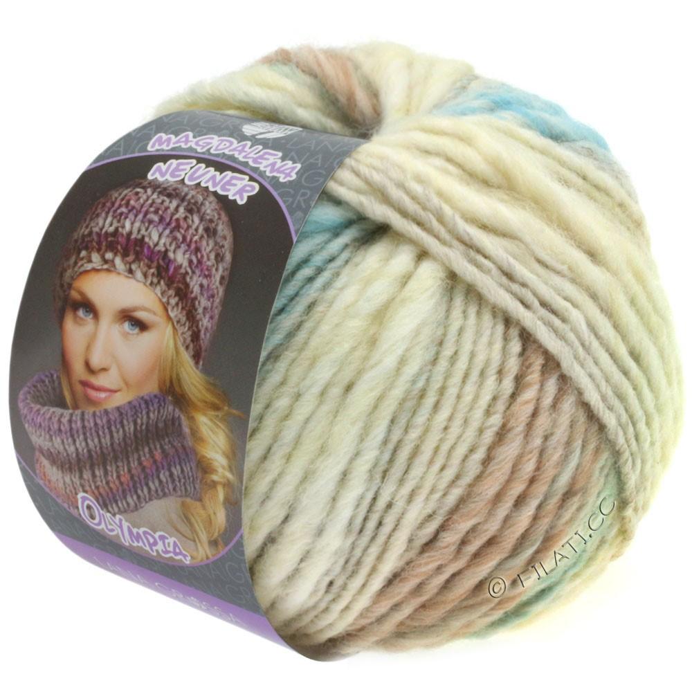 Lana Grossa OLYMPIA Pastello | 601-чисто-белый/серебристо-серый/светло-серый/светло-зелёный/мята/ветхо-розовый