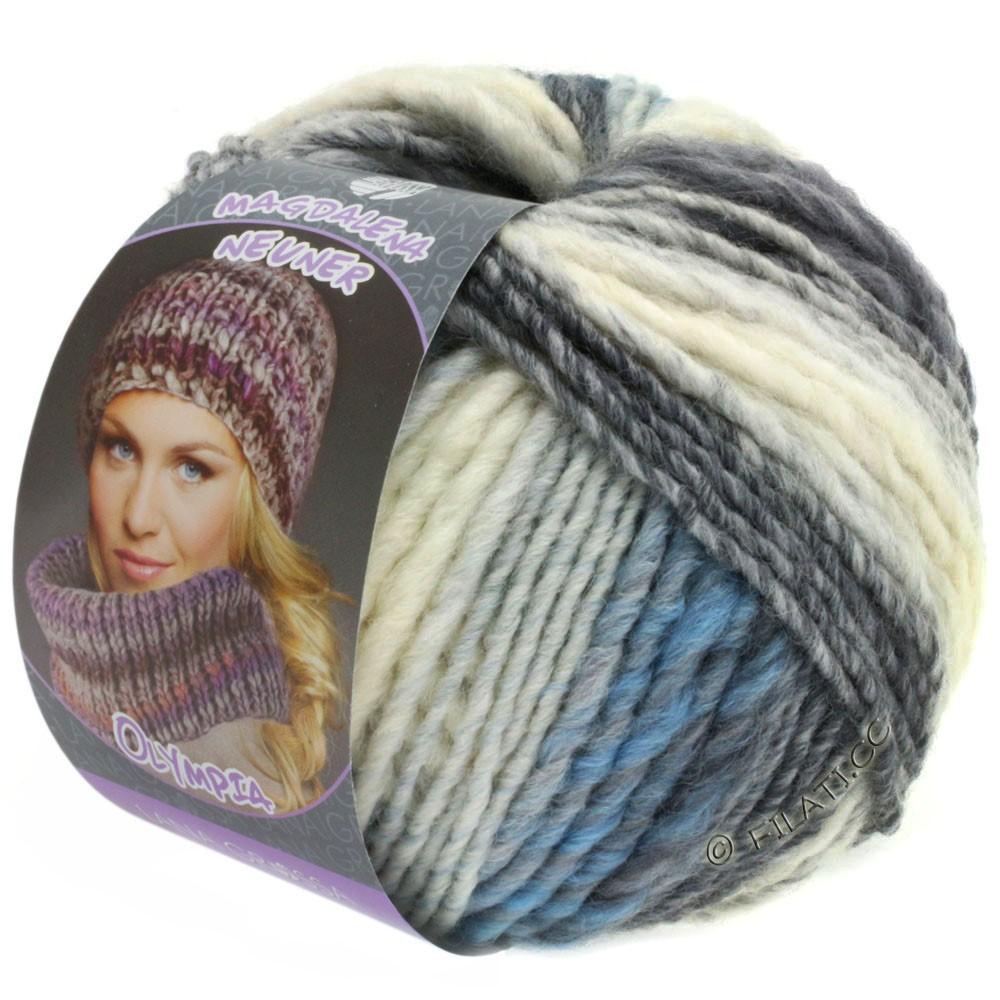 Lana Grossa OLYMPIA Pastello | 602-белый/светло-серый/средне-серый/тёмно-серый/синий/светло-голубой