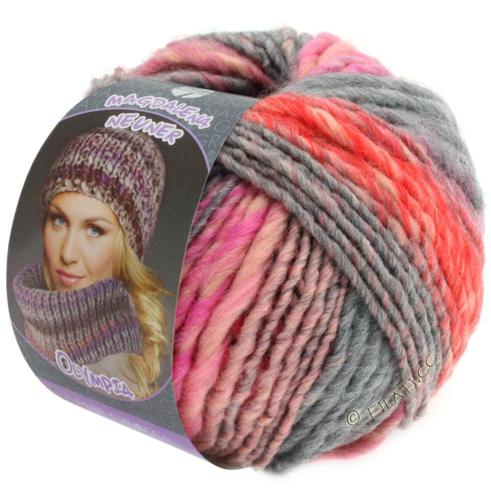Lana Grossa OLYMPIA Pastello | 603-розовый/красный/пинк/серый