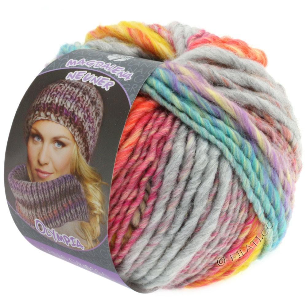 Lana Grossa OLYMPIA Pastello | 604-жёлтый/оранжевый/пинк/светло-зелёный/бирюзовый/серый