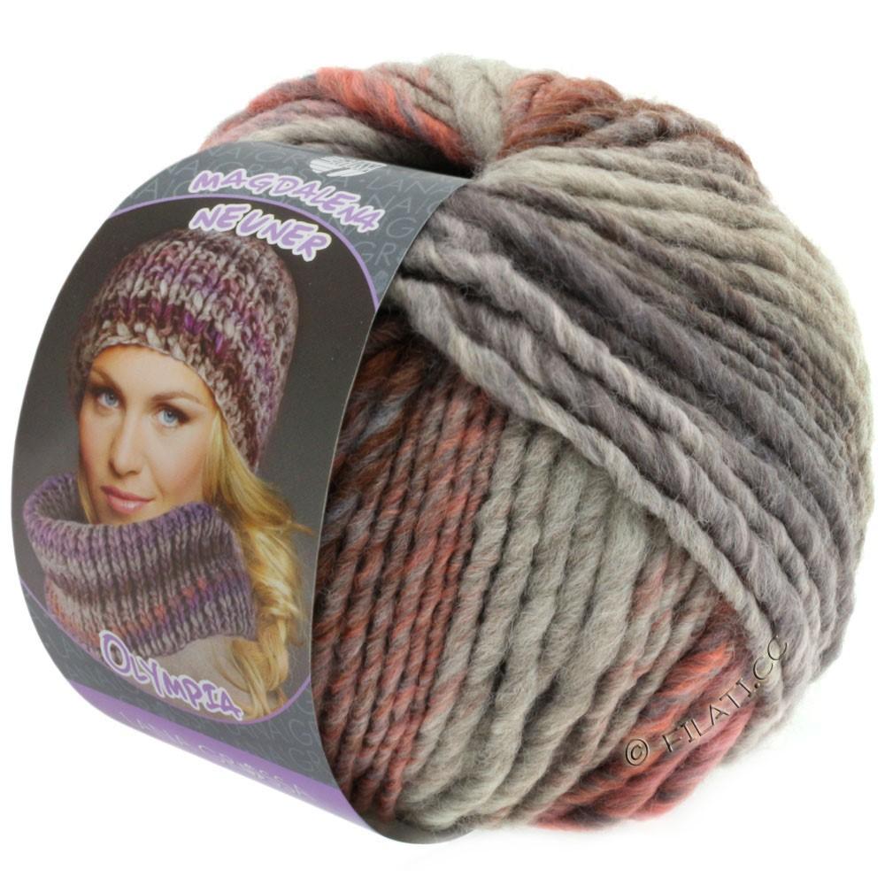 Lana Grossa OLYMPIA Pastello | 607-розовый/сирень/коричневый/серо-фиолетовый/светло-серый