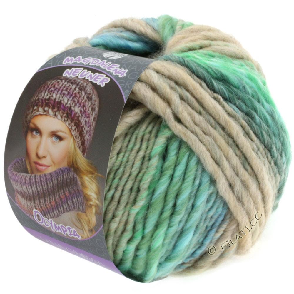 Lana Grossa OLYMPIA Pastello | 608-светло-зелёный/тёмно-зелёный/светло-голубой/синий кобальт/бежевый/мята