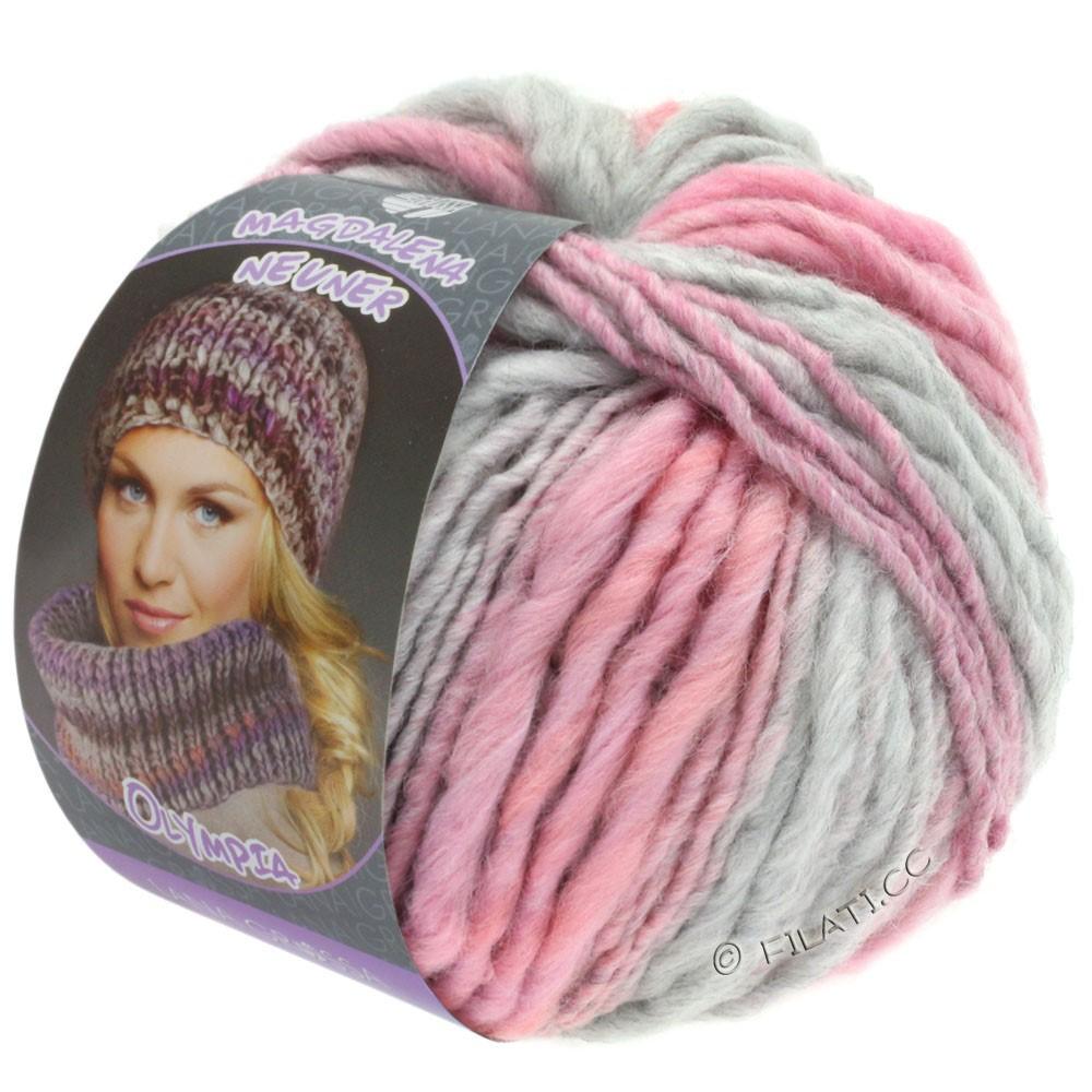 Lana Grossa OLYMPIA Pastello | 610-светло-серый/розовый/гвоздика/ежевика