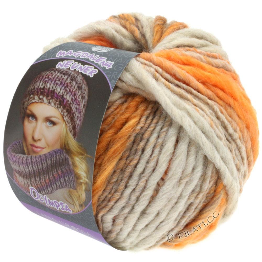 Lana Grossa OLYMPIA Pastello | 611-светло-серый/оранжевый/браун оранжевый/серо оранжевый