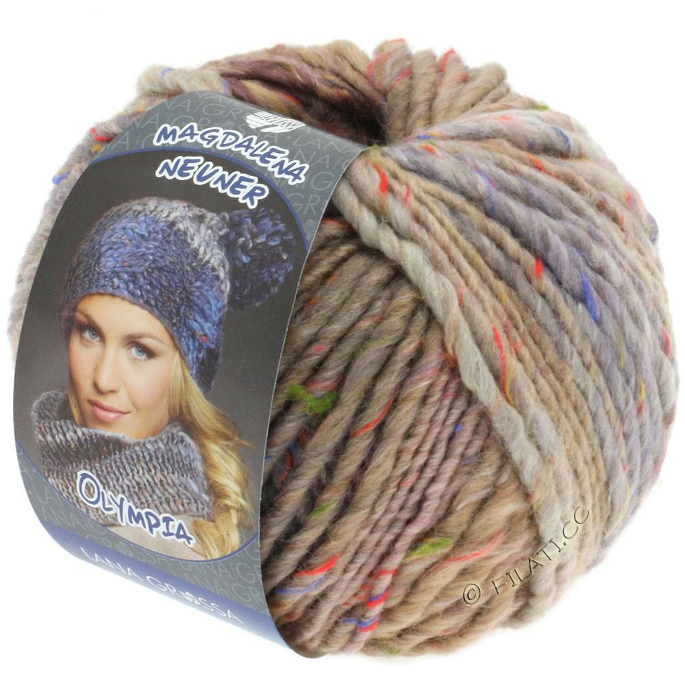 Lana Grossa OLYMPIA Tweed | 703-бежевый/сирень/серый меланжевый
