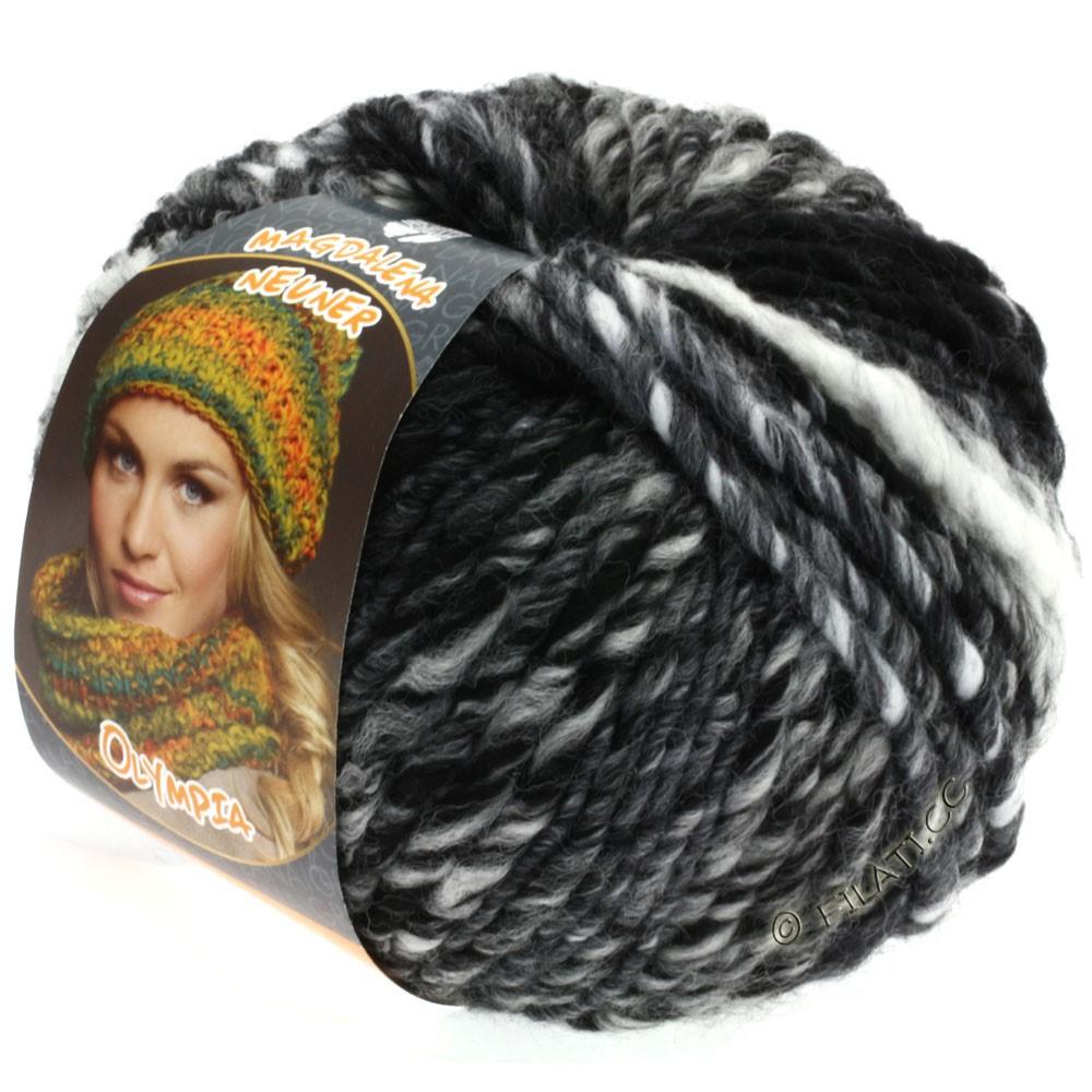 Lana Grossa OLYMPIA Classic | 017-чёрный/серый/антрацитовый/белый