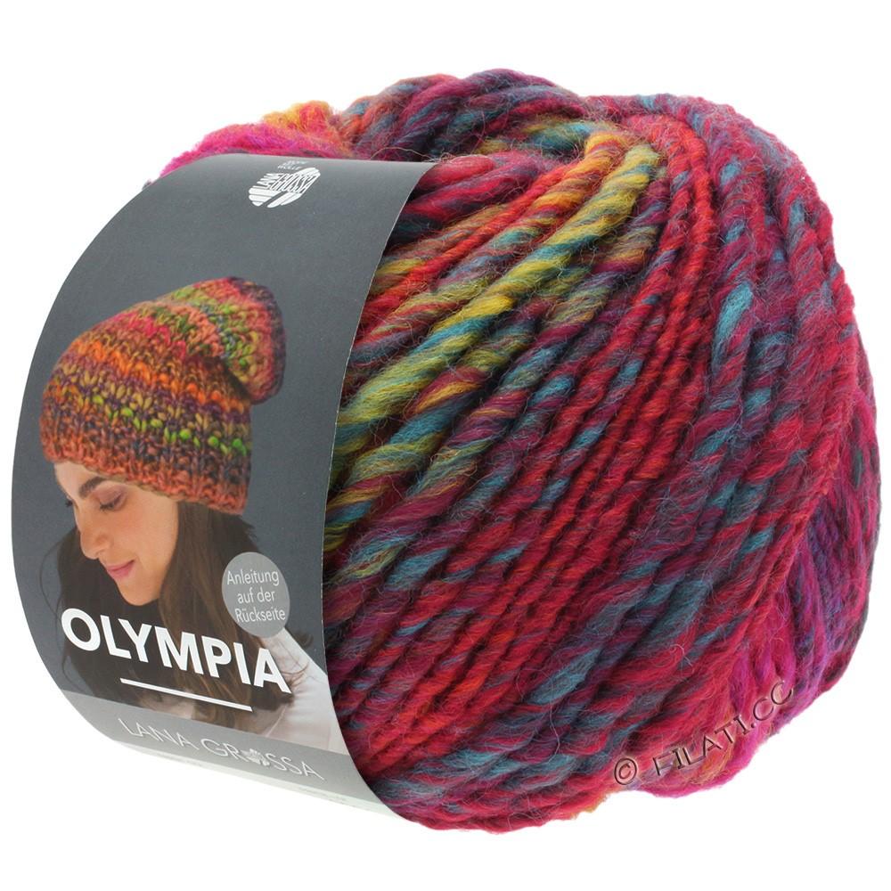 Lana Grossa OLYMPIA Classic | 062-красный/синий/петроль/светло-зелёный/тёмно-красный