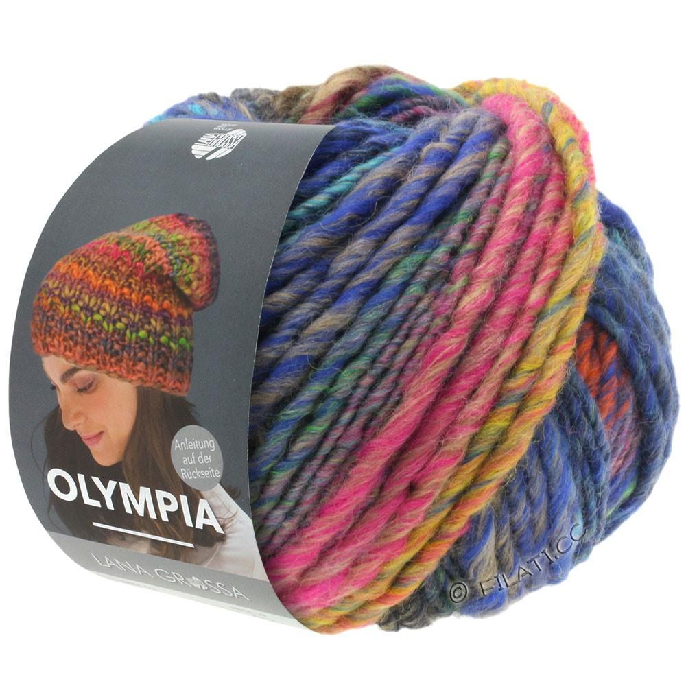 Lana Grossa OLYMPIA Classic | 065-пинк/медь/петроль/хаки/тёмно-синий/зеленовато-желтый/бирюзовый
