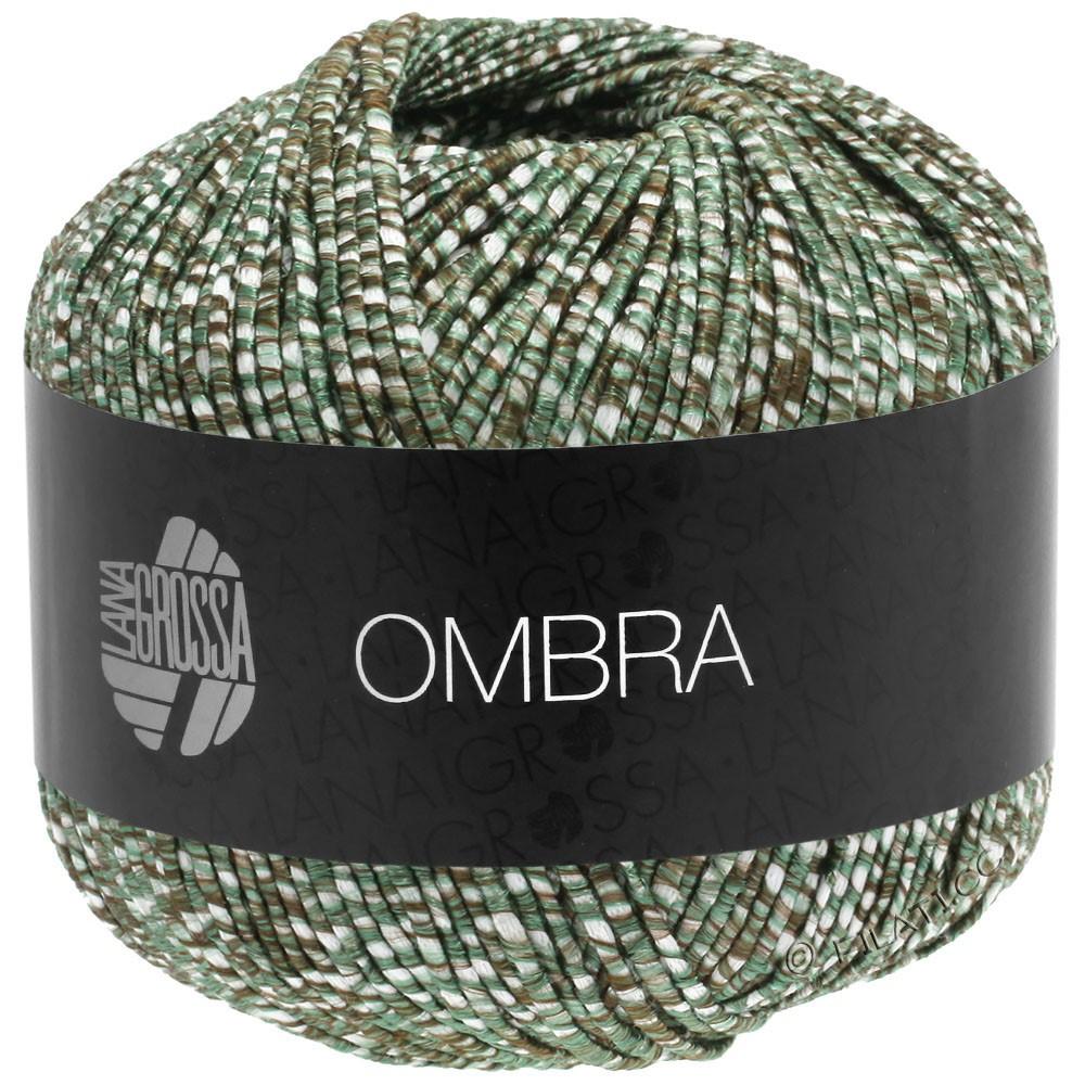 Lana Grossa OMBRA   05-серо-зеленый/натуральный